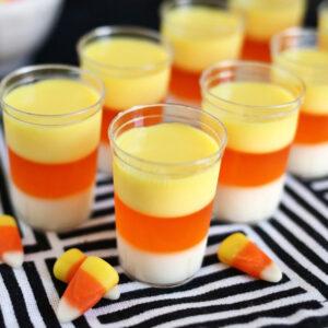 Candy Corn Jelly Shots